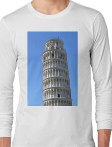Leaning Tower in Piazza dei Miracoli (Square of Miracles), Pisa, Tuscany, Italy Long Sleeve T-Shirt