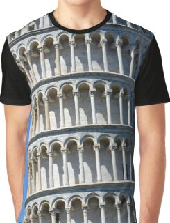 Leaning Tower in Piazza dei Miracoli (Square of Miracles), Pisa, Tuscany, Italy Graphic T-Shirt