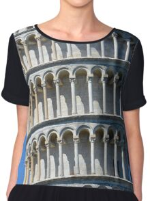 Leaning Tower in Piazza dei Miracoli (Square of Miracles), Pisa, Tuscany, Italy Chiffon Top