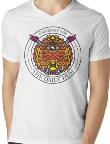 UNIVERSITY OF THE DAILY HUM Mens V-Neck T-Shirt