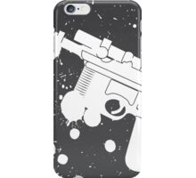 Han Solo Blaster Paint Splatter (White) iPhone Case/Skin