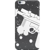 Han Solo Blaster Paint Splatter (White) iPhone Case/Skin