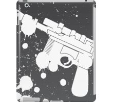 Han Solo Blaster Paint Splatter (White) iPad Case/Skin