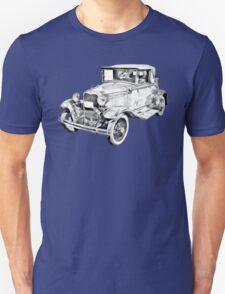 Model A Ford Roadster Antique Car Illustration T-Shirt