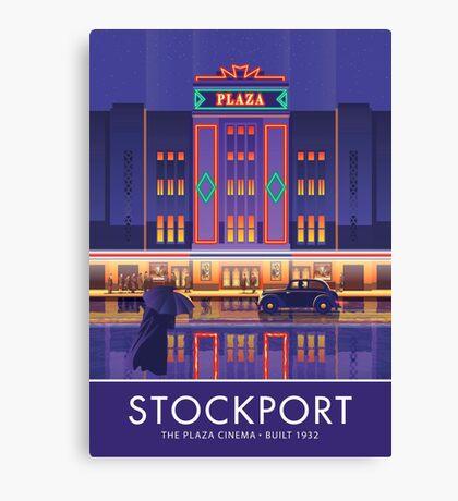 Stockport, Plaza Cinema Canvas Print