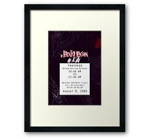 Haunted Mansion Fastpass Framed Print