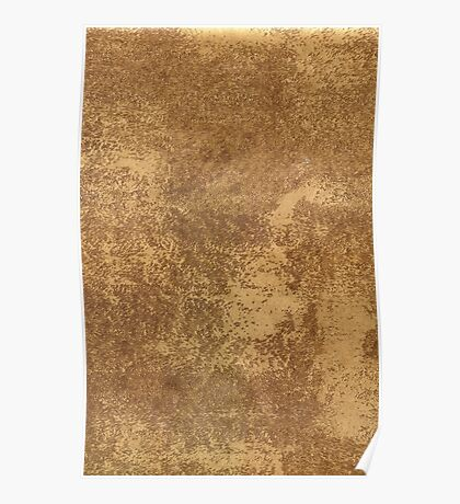 Abstract gold paper Poster
