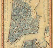 Vintage Map of New York City (1846) by BravuraMedia