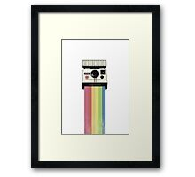 Polaroid Rainbow Framed Print