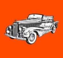 1938 Cadillac Lasalle Illustration Kids Tee