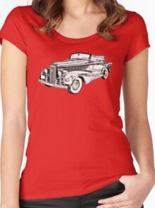 1938 Cadillac Lasalle Illustration Women's Fitted Scoop T-Shirt