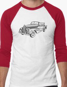 1938 Cadillac Lasalle Illustration Men's Baseball ¾ T-Shirt
