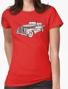 1938 Cadillac Lasalle Illustration Womens Fitted T-Shirt