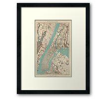 Vintage Map of New York City (1890) Framed Print