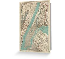 Vintage Map of New York City (1890) Greeting Card