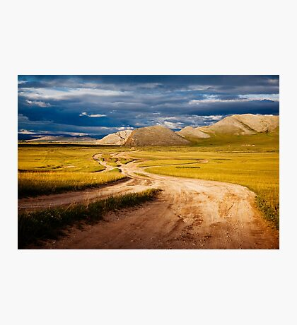 Golden Roads of Mongolia  Photographic Print