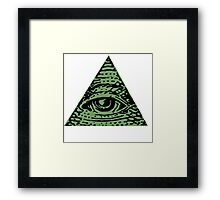 Illuminati Eyes Framed Print