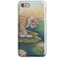 Whimsical Cat Art - Cat and the Prince Charming Frog iPhone Case/Skin