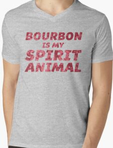 Bourbon Is My Spirit Animal Mens V-Neck T-Shirt