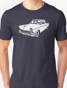 1956 Ford Custom Line Antique Car Illustration T-Shirt