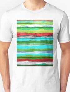 Watercolor Multicolor Abstract Background Unisex T-Shirt
