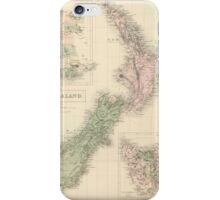 Vintage Map of New Zealand (1854) iPhone Case/Skin