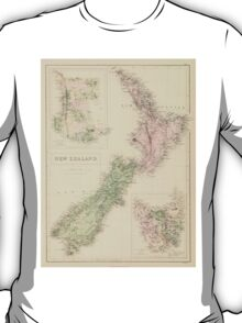 Vintage Map of New Zealand (1854) T-Shirt