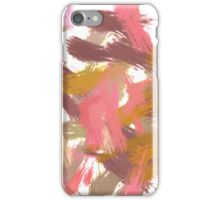 Pink brush stripes, abstract iPhone Case/Skin