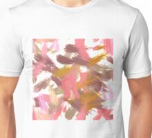Pink brush stripes, abstract Unisex T-Shirt