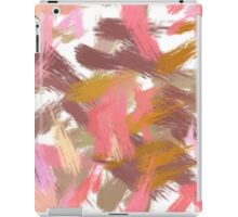 Pink brush stripes, abstract iPad Case/Skin