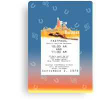 Thunder Mountain- Fastpass (#2) Canvas Print