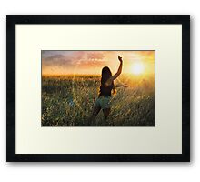 Catch The Sun Before Its Gone Framed Print