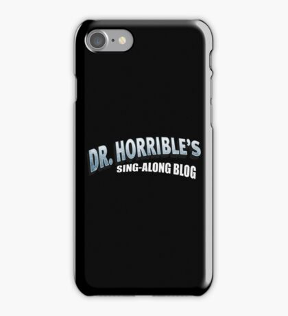 Dr. Horrible's Sing-Along Blog iPhone Case/Skin