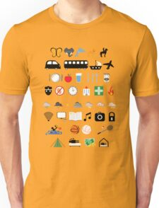 Travel icons Unisex T-Shirt
