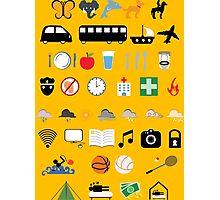 Travel icons Photographic Print