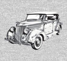 1936 Ford Phaeton Convertible Illustration  Kids Clothes