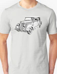 1936 Ford Phaeton Convertible Illustration  T-Shirt