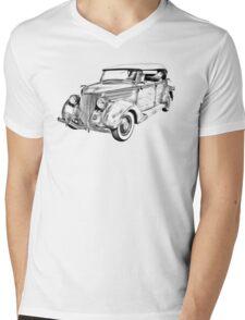 1936 Ford Phaeton Convertible Illustration  Mens V-Neck T-Shirt