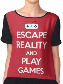 Escape Reality Gaming Quote Chiffon Top
