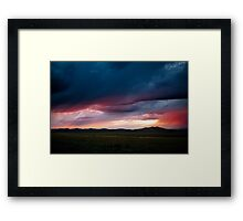 Wildfire Skies over Russia  Framed Print