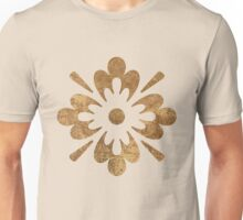 Abstract gold paper Unisex T-Shirt