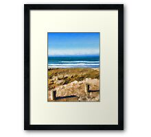 View of the Beach from the Carpark Framed Print
