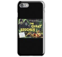 Attack of the Giant Leeches vintage movie poster iPhone Case/Skin