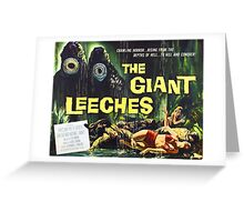 Attack of the Giant Leeches vintage movie poster Greeting Card