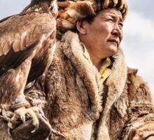 Kazakh Eagle Hunter of the Mongolian Altai  Sticker