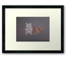 Mice Friends Framed Print