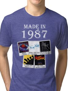 Made in 1987, main historical events Tri-blend T-Shirt