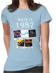 Made in 1987, main historical events Womens Fitted T-Shirt