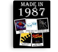 Made in 1987, main historical events Canvas Print