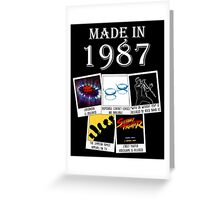 Made in 1987, main historical events Greeting Card